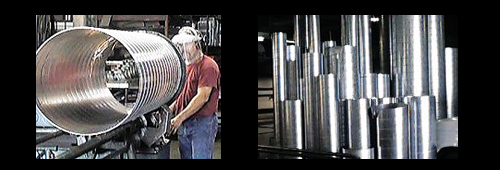 Shop facility Union Air Conditioning Inc Spiral ductwork